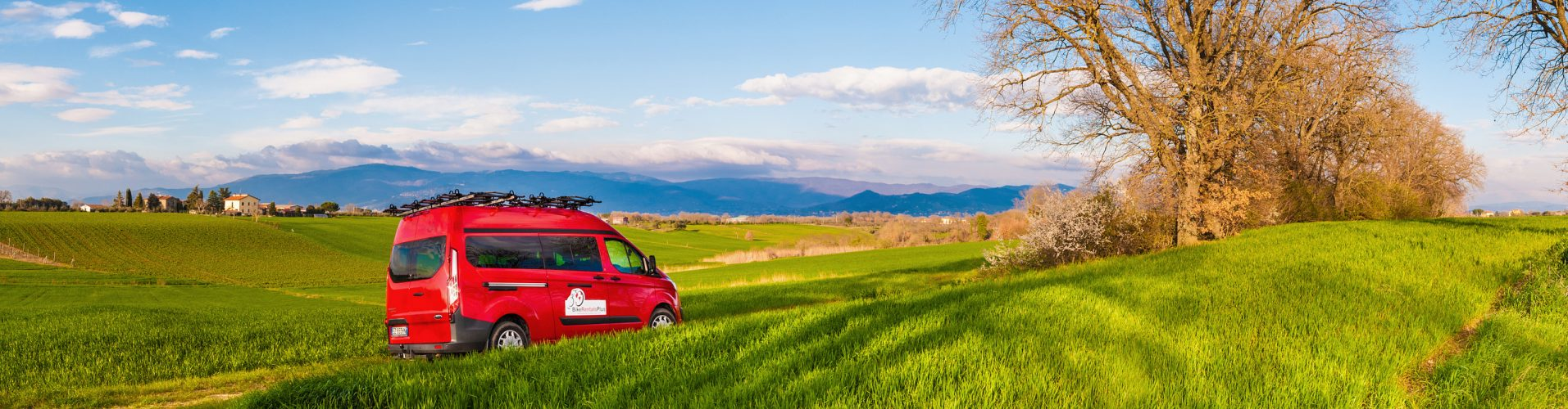 van rental for bicycle tours in Italy