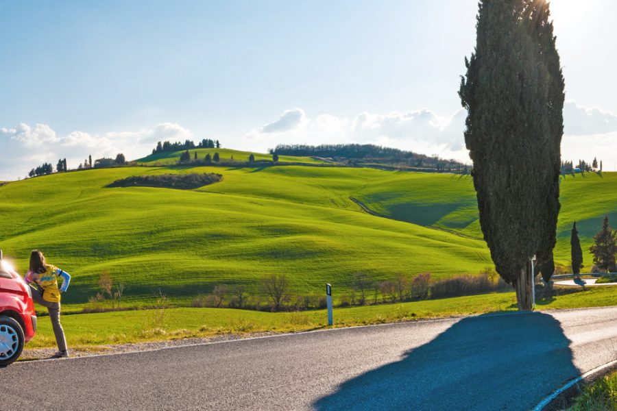 van rental for bike touring in Tuscany